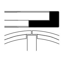 """Fascia elastica ad """"L"""" altezza 2 mm"""