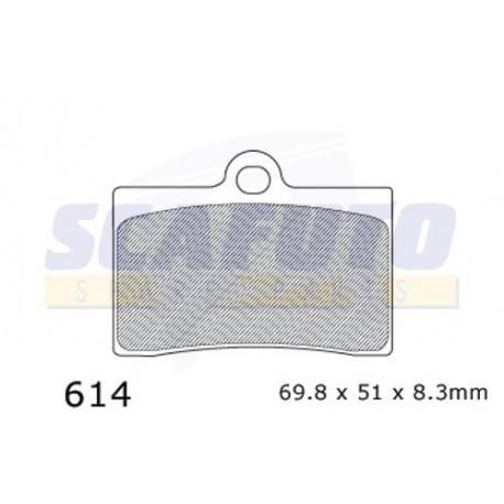 Pastiglia freno APRILIA/CAGIVA/DUCATI/KTM/MOTOGUZZI SDP614 Ant.