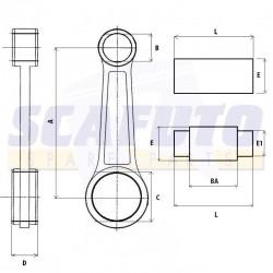 Biella PIAGGIO SFERA/ZIP 50cc 2 tempi Asse 18mm